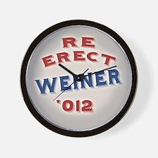 Re-Erect Weiner '12 Wall Clock