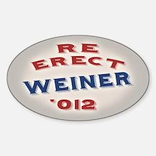 Re-Erect Weiner '12 Decal