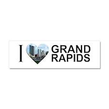 I Heart Grand Rapids Car Magnet 10 x 3