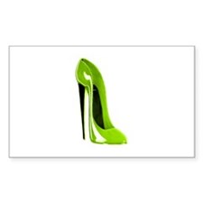Lime green stiletto shoe Decal
