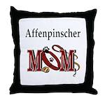 Affenpinscher Mom Throw Pillow
