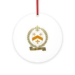 BOURGOIN Family Crest Ornament (Round)