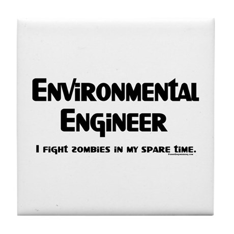 Environmental Engineer Gamer Tile Coaster