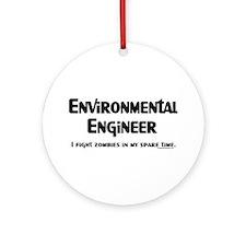 Environmental Engineer Gamer Ornament (Round)