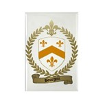 BOURGOIN Family Crest Rectangle Magnet (100 pack)