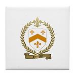 BOURGOIN Family Crest Tile Coaster