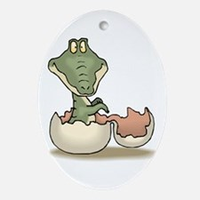 Baby Gator Ornament (Oval)