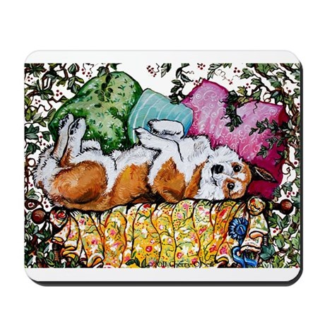 Corgi Cottage Chic Mousepad