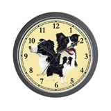Border collie Wall Clocks