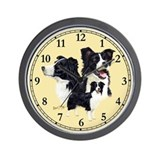 Border collies Wall Clocks