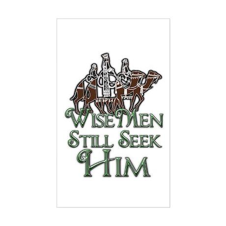 WiseMen still seek Him Sticker (Rectangle)