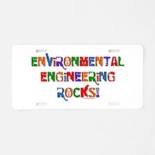Environmental Rocks Text Aluminum License Plate