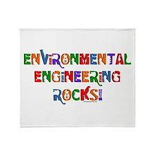 Environmental Rocks Text Throw Blanket