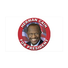 Herman Cain for President 38.5 x 24.5 Wall Peel