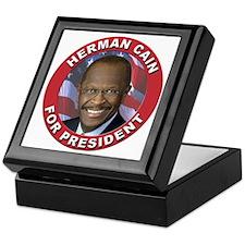 Herman Cain for President Keepsake Box