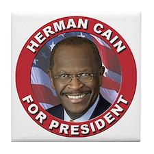 Herman Cain for President Tile Coaster