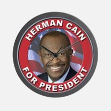 Herman Cain for President Wall Clock