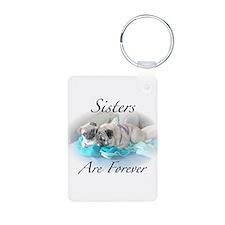 Sister pugs Keychains
