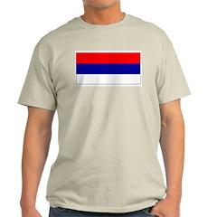 Serbia Serbian Blank Flag Ash Grey T-Shirt