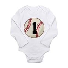 Baseball Player Number 1 Team Long Sleeve Infant B