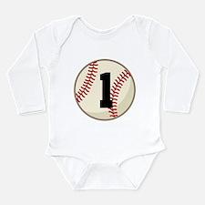 Baseball Player Number 1 Team Long Sleeve Infant B