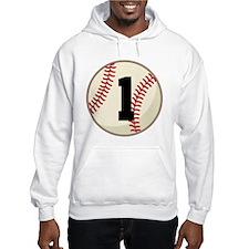 Baseball Player Number 1 Team Hoodie