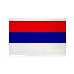 Serbia Serbian Blank Flag Rectangle Magnet