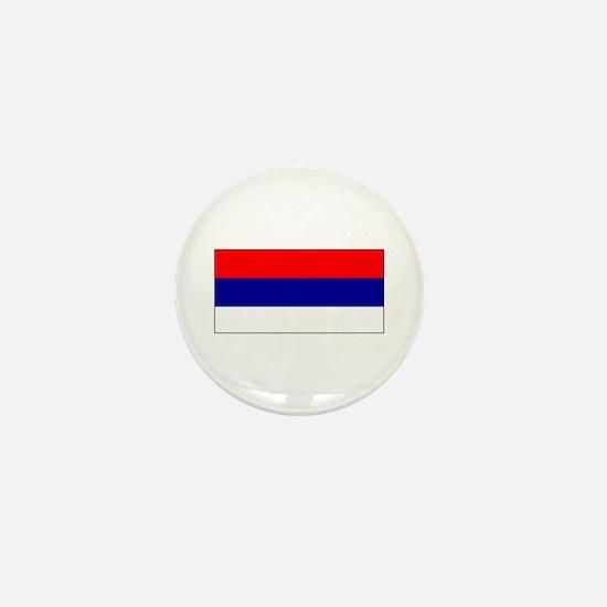 Serbia Serbian Blank Flag Mini Button