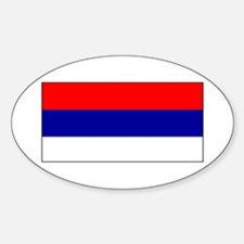 Serbia Serbian Blank Flag Oval Decal