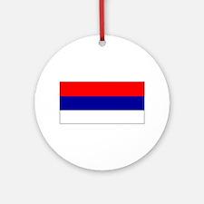 Serbia Serbian Blank Flag Christmas Ornament