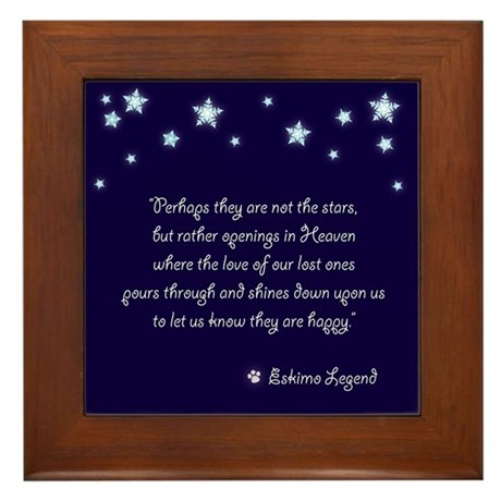 Pet Sympathy Framed Tile