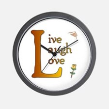 Big L - Live Laugh Love Wall Clock