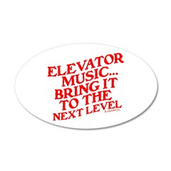 ELEVATOR MUSIC 22x14 Oval Wall Peel
