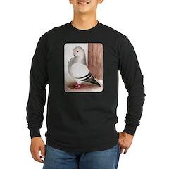Blue Owl Pigeon Long Sleeve Dark T-Shirt