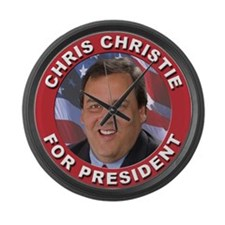 Chris Christie for President Large Wall Clock