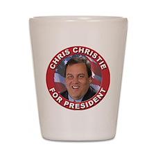 Chris Christie for President Shot Glass