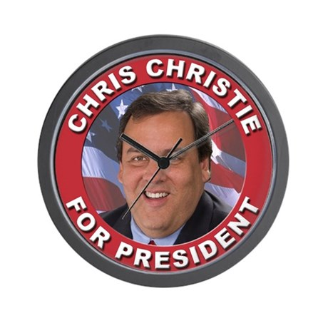 Chris Christie for President Wall Clock
