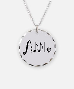 Great NEW fiddle design! Necklace Circle Charm