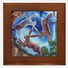 Three Hares Framed Tile