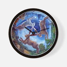 Three Hares Wall Clock
