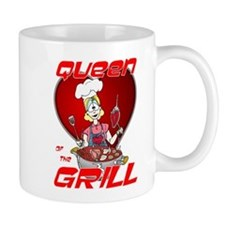 Queen of the Grill-White Mug
