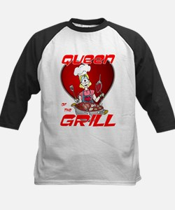 Queen of the Grill-White Kids Baseball Jersey