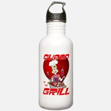 Queen of the Grill-White Water Bottle
