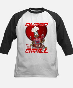 Queen of the Grill-Black Kids Baseball Jersey