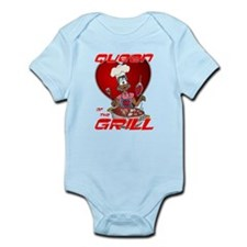 Queen of the Grill-Black Infant Bodysuit