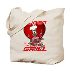 Queen of the Grill-Black Tote Bag