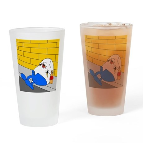 The fall of Humpty Pint Glass