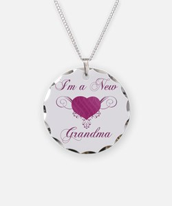 Heart For New Grandmas Necklace Circle Charm