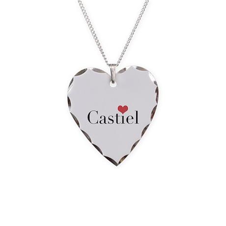 Castiel Heart Necklace Heart Charm
