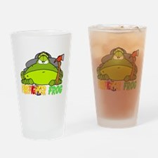 Firefighter Frog Pint Glass